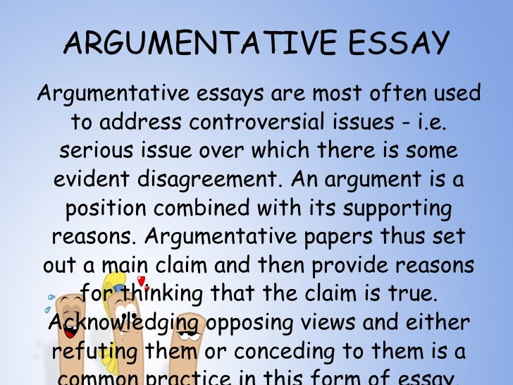 types of argument essays