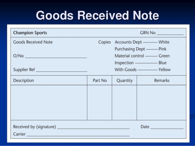 Dbs3024 biz trx week 3 business documentation – Goods Collection Note Template