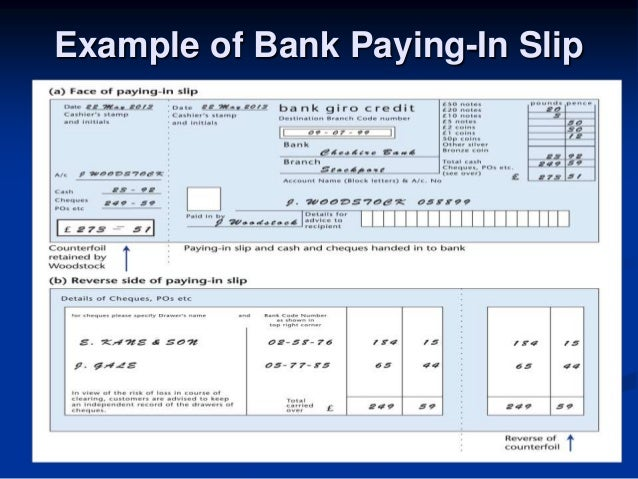 Dbs3024 biz trx week 4 banking system – Remittance Advice Slip
