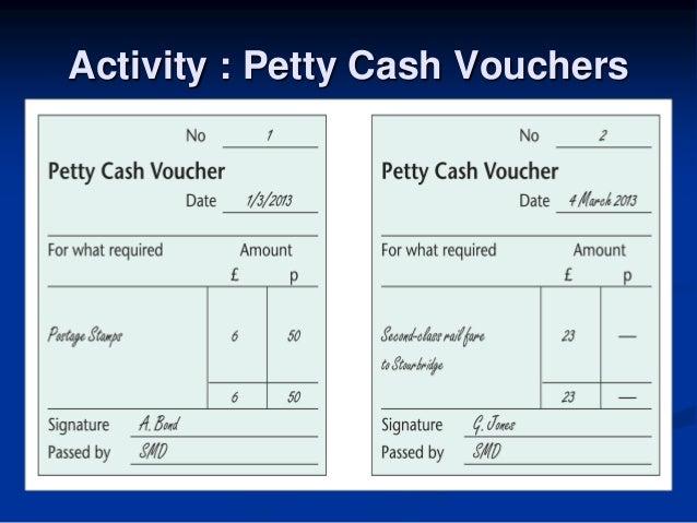 Delightful 1   21 4 Activity; 22. Activity : Petty Cash Vouchers ... Intended Petty Cash Voucher Definition