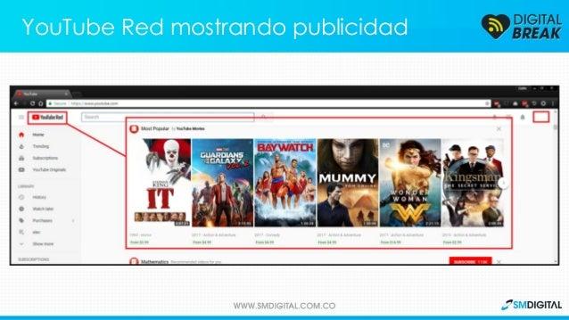 YouTube Red mostrando publicidad