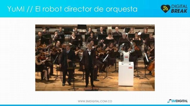 Este robot aprendió a dirigir una orquesta y es capaz de realizar los movimientos necesarios. YuMI // El robot director de...