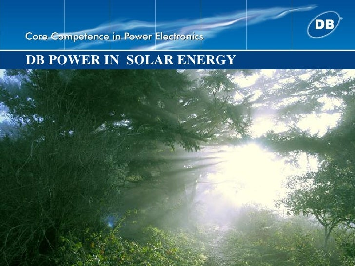 DB POWER IN SOLAR ENERGY