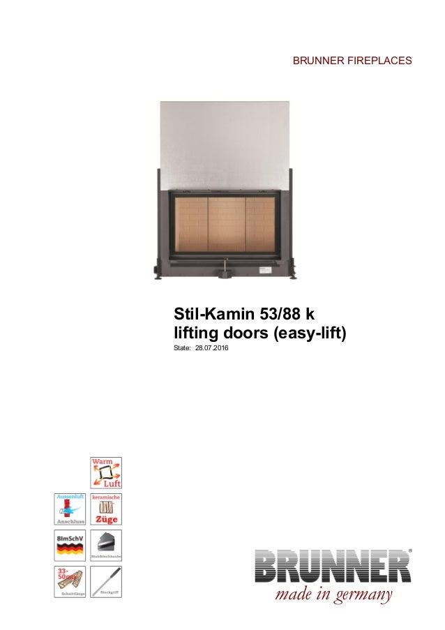 Brunner Stil-Kamin 53/88K