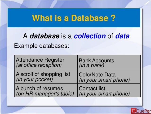 Database Systems Introduction Chapter 1