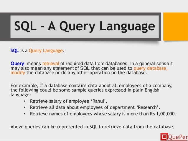 Database Systems Introduction To Sql Chapter 3 1