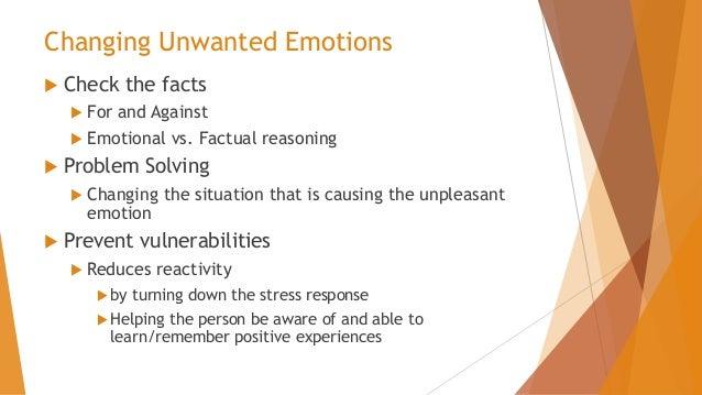 emotion regulation and vulnerability prevention