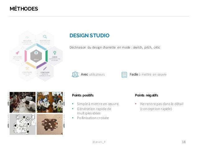@akiani_fr MÉTHODES 18 DESIGN STUDIO Déclinaison   du  design  charrette   en  mode  :  sketch,   pitch, ...