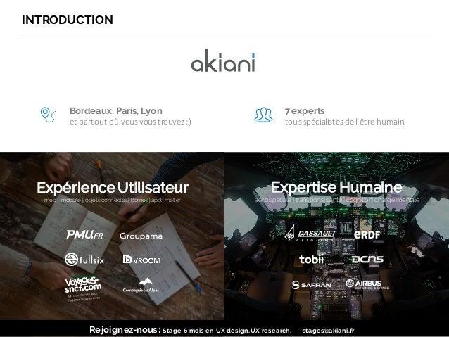 @akiani_fr INTRODUCTION 3 Bordeaux, Paris, Lyon et  partout  où vous vous trouvez :) 7 experts tous spécialistes  de...
