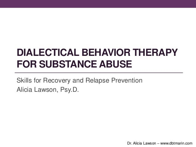 Dbt substance abuse presentation
