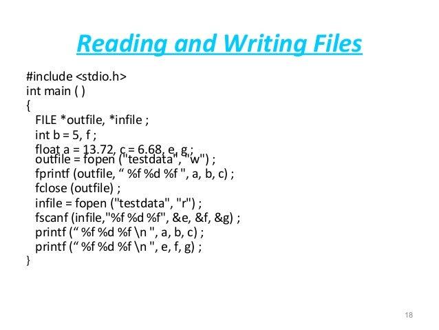 write a program for file handling in c