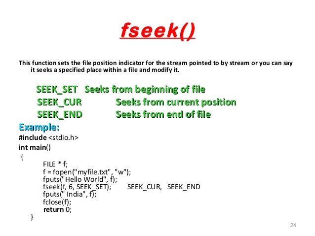 fseek fwrite overwrite a file