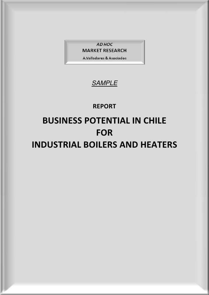 SAMPLE               REPORT    BUSINESS POTENTIAL IN CHILE              FOR INDUSTRIAL BOILERS AND HEATERS