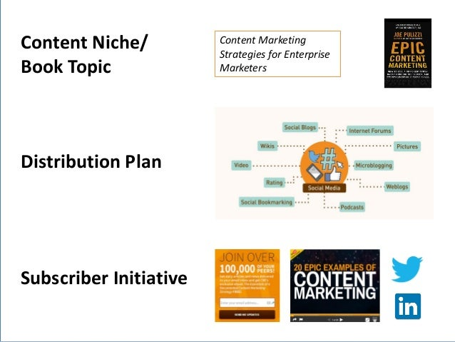 @JoePulizzi Content Niche/ Book Topic Subscriber Initiative Content Marketing Strategies for Enterprise Marketers Distribu...