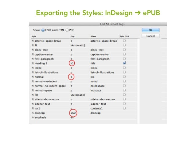 Ebook production a templated workflow 2013 exporting the styles indesign epub 10 fandeluxe PDF