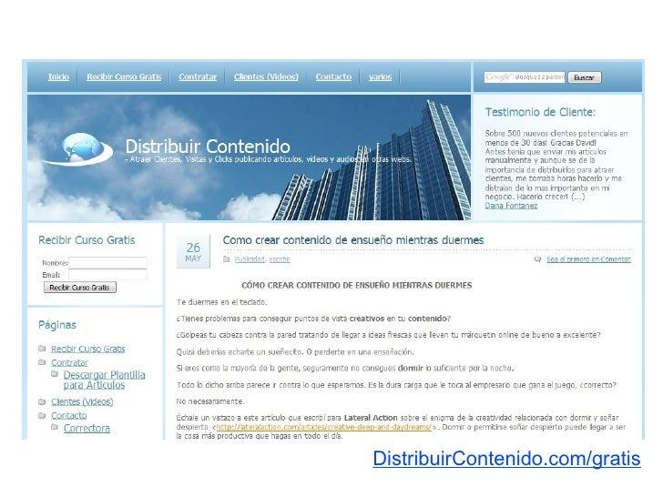 DistribuirContenido.com/gratis