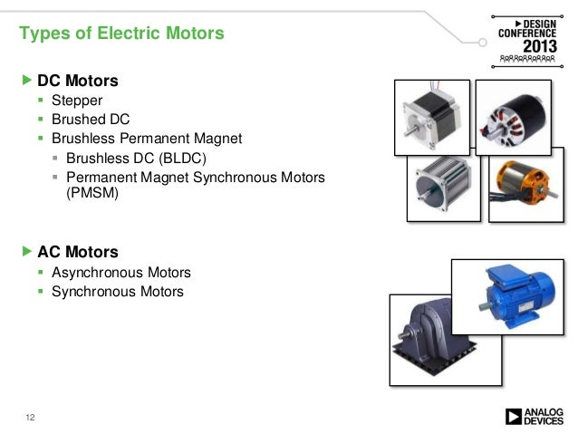 Efficient motor control solutions high performance servo for Types of dc motor