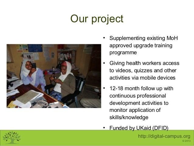 Mobile Learning for Health Workers - DaeSav 2013 Slide 3