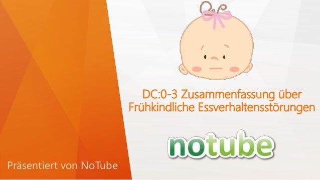 DC:0-3 Zusammenfassung über Frühkindliche Essverhaltensstörungen Präsentiert von NoTube