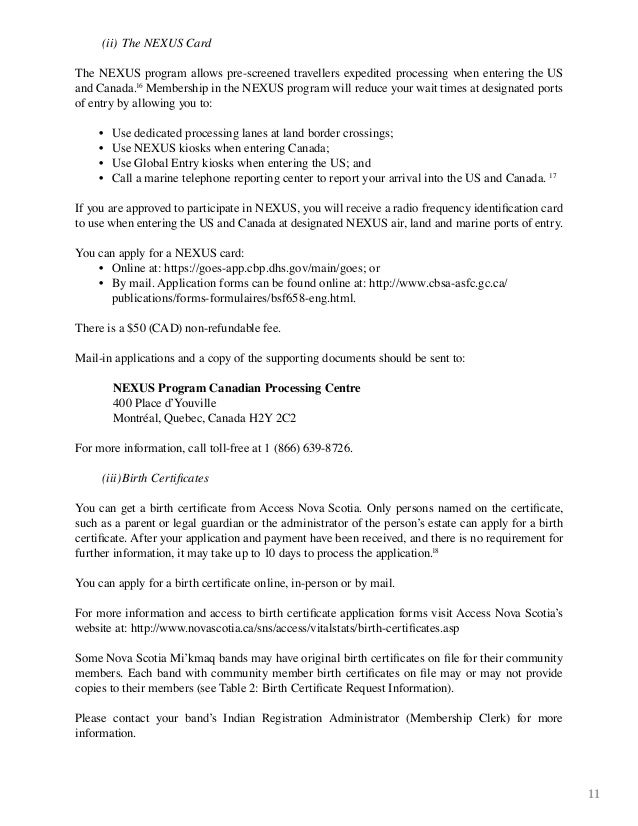 Free Professional Resume Canadian Birth Certificate Application