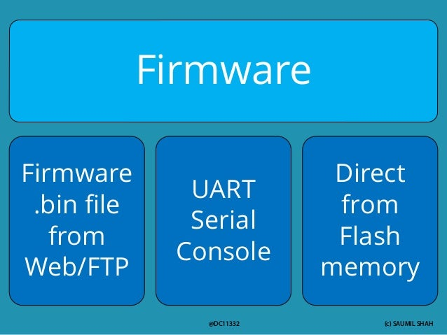 (c) SAUMIL SHAH @DC11332 Firmware Firmware .bin file from Web/FTP UART Serial Console Direct from Flash memory