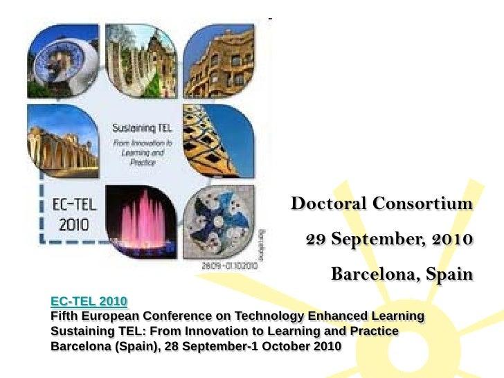 Doctoral Consortium                                       29 September, 2010                                           Bar...