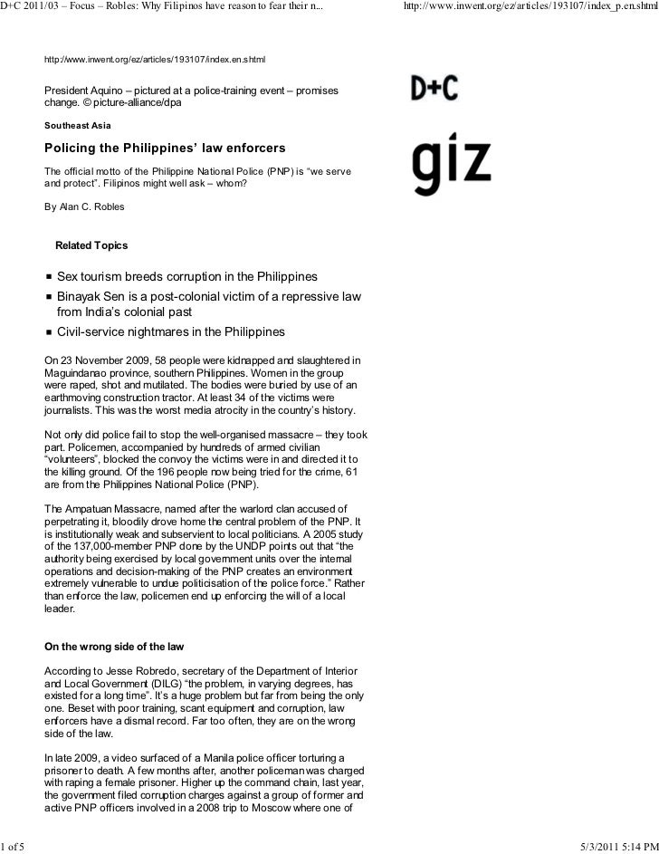 D+C 2011/03 – Focus – Robles: Why Filipinos have reason to fear their n...             http://www.inwent.org/ez/articles/1...