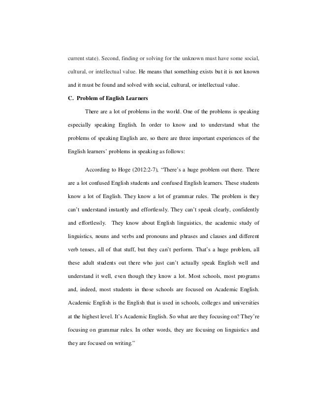 PDF) EXPLORING STUDENTS' PROBLEM IN APPLYING FULL ENGLISH