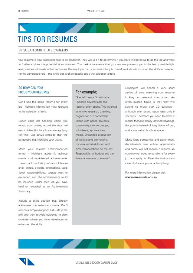 2013 Uts Bsoc Careers Guide