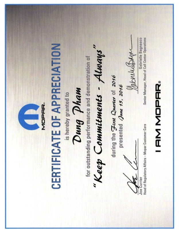 Certificate of appreciationpdf mopar certificate of appreciationpdf yadclub Images