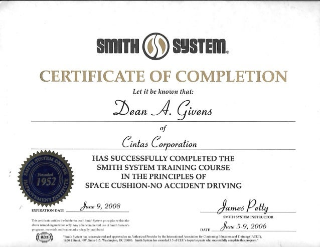 Smith System Certification