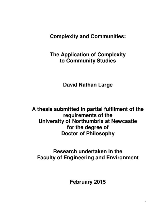 A thesis submitted in fulfilment of the requirements for the degree of