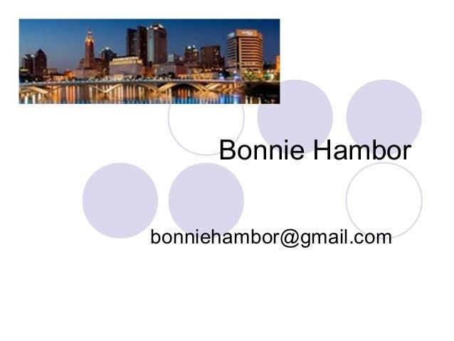 Bonnie Hambor bonniehambor@gmail.com