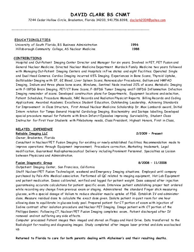 Resume 2005 to Present