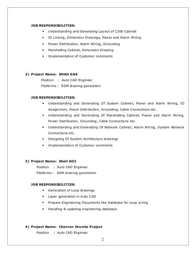 SlideShare  Cad Designer Resume