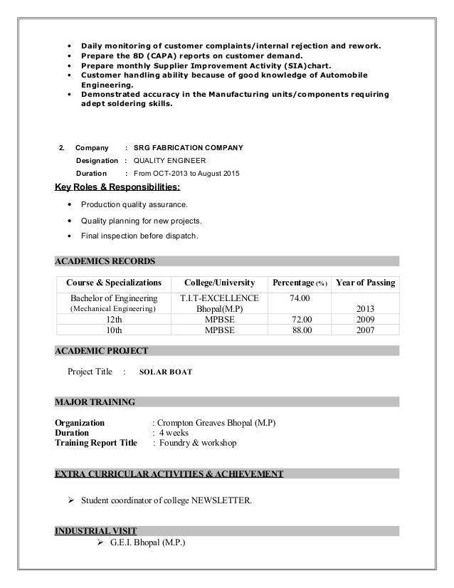 New Op Resume