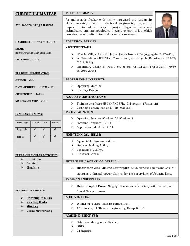Page 1 of 1 CURRICULUMVITAE Mr. Neeraj SinghRawat HANDHELD:+91- 954-903-2374 EMAIL: neeraj.rawat2805@gmail.com LOCATION: J...