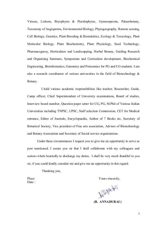 Bioinformatics Cover Letter Example