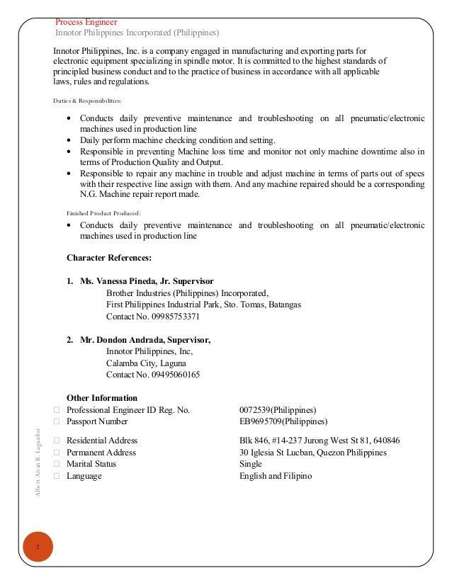 CV- Albert Aivan Laguador - (Mechanical Engineer- Equipment,Maintenance) Slide 3