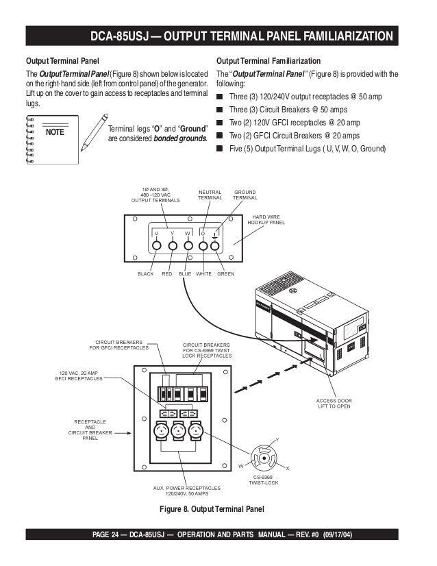 Dca 85 Usj Operating Manual - Repair Wiring Scheme