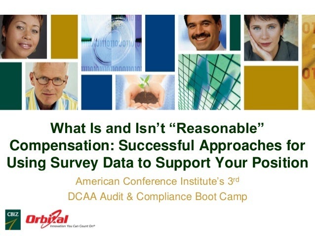 """What Is and Isn't """"Reasonable"""" Compensation: Successful Approaches for Using Survey Data to Support Your Position American..."""