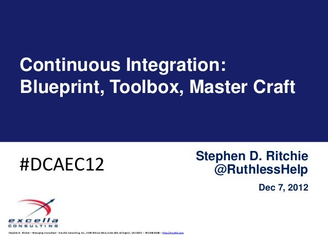 Continuous Integration:         Blueprint, Toolbox, Master Craft                                                          ...