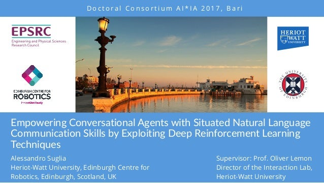 Empowering Conversational Agents with Situated Natural Language Communication Skills by Exploiting Deep Reinforcement Lear...