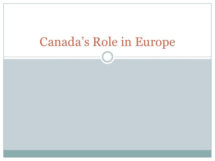 Canada's Role in Europe
