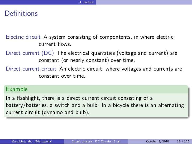 Circuit Analysis DC Circuits