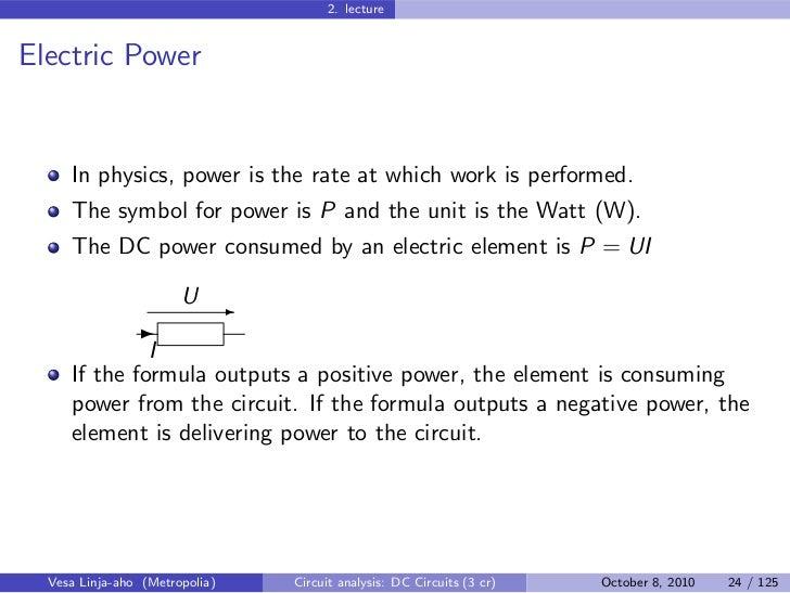 Circuit Analysis – DC Circuits