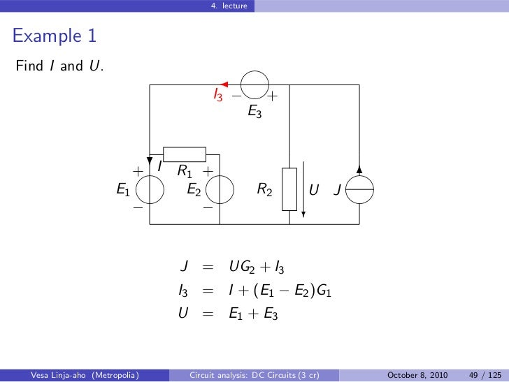 Circuit Analysis – DC Circuits