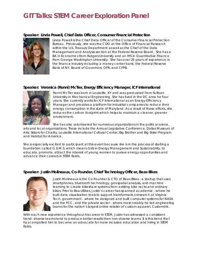 GIT DC - Session Announcement #1: STEM Career Exploration Slide 2