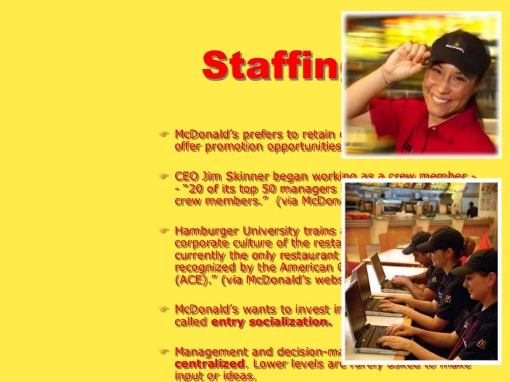 a staffing process for mcdonalds As for preparing, jobtestprep is the source for your mcdonald's recruitment  process materials the different preparation packages on this page are designed  to.