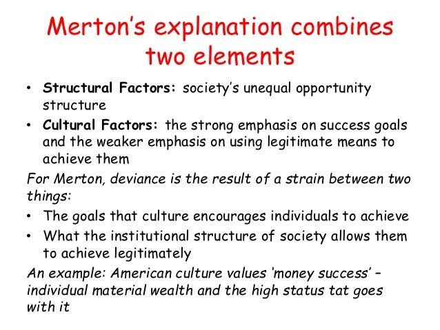 the topic of the american dream and the strain theory by robert merton In creating iat, messner and rosenfeld modified robert k merton's theory of  anomie in relation to american culture and social structure, centering on the.